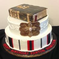 Birthday Cake with Bible & Cross