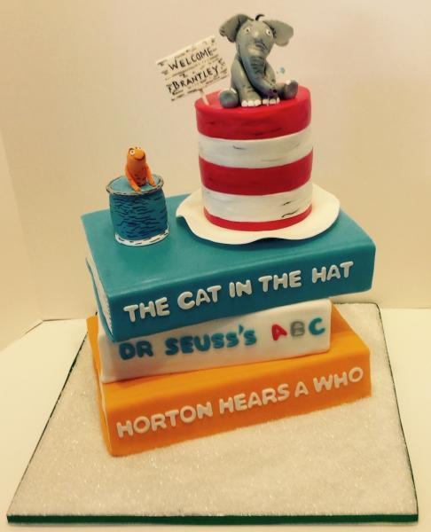 [Image: Dr. Seuss Baby Shower Cake]
