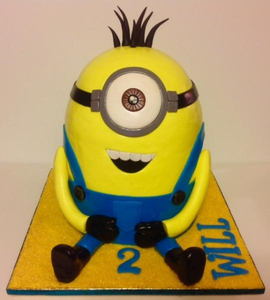 [Image: Minion Birthday Cake]