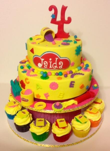 Pleasing Playdough Birthday Cake Birthday Cakes Gallery Personalised Birthday Cards Veneteletsinfo