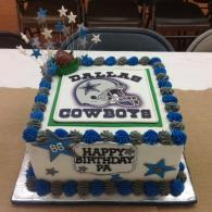 Dallas Cowboys Birthday Cake