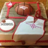 Houston Rockets Themed Cake